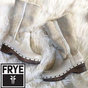 Frye Rare Morgan Shearling Clog Boots